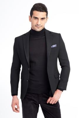 Erkek Giyim - SİYAH 52 Beden Balıksırtı Klasik Ceket