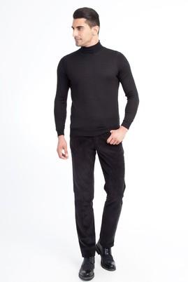 Erkek Giyim - Siyah 52 Beden Kadife Pantolon