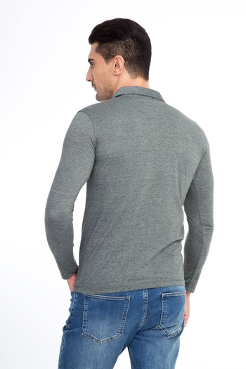 Polo Yaka Slim Fit Sweatshirt