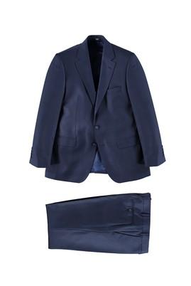 Erkek Giyim - Lacivert 50 Beden Desenli Takım Elbise
