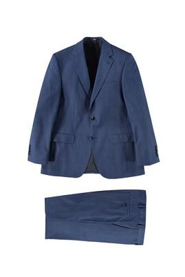 Erkek Giyim - Mavi 60 Beden Ekose Takım Elbise