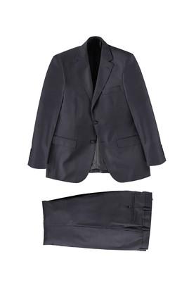Erkek Giyim - Lacivert 56 Beden Kuşgözü Takım Elbise