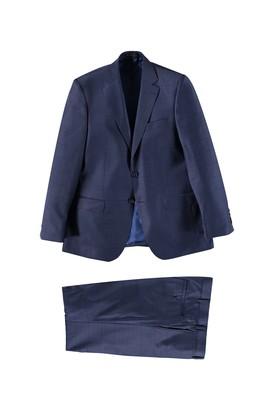 Erkek Giyim - Lacivert 50 Beden Ekose Takım Elbise