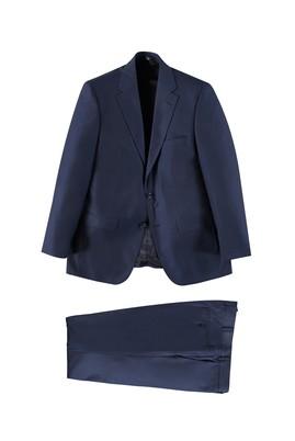Erkek Giyim - KOYU MAVİ 54 Beden Kuşgözü Takım Elbise