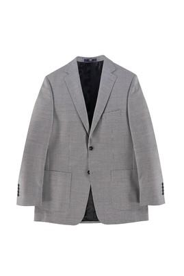 Erkek Giyim - SİYAH 46 Beden Slim Fit Desenli Ceket