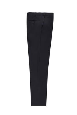 Erkek Giyim - LACİVERT 50 Beden Slim Fit Yünlü Klasik Pantolon