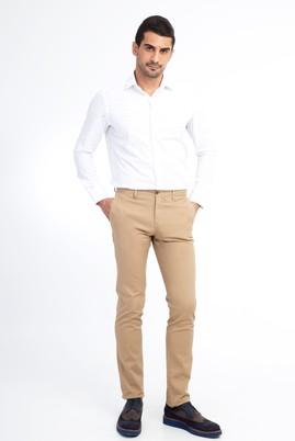 Erkek Giyim - Açık Kahve - Camel 52 Beden Slim Fit Spor Pantolon