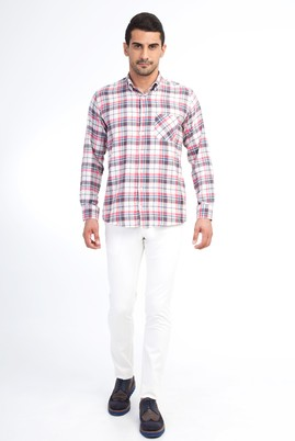 Erkek Giyim - Krem 50 Beden Slim Fit Spor Pantolon