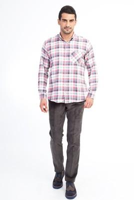 Erkek Giyim - Antrasit 48 Beden Kadife Pantolon