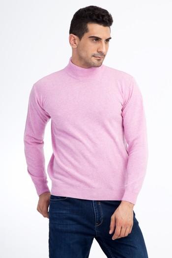Erkek Giyim - Bato Yaka Yünlü Regular Fit Triko Kazak
