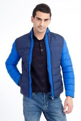Erkek Giyim - Mavi 50 Beden Bonded Mont