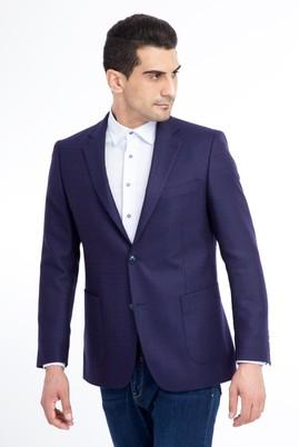 Erkek Giyim - LACİVERT 46 Beden Klasik Kuşgözü Yünlü Ceket