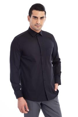 Erkek Giyim - Siyah L Beden Uzun Kol Klasik Gömlek
