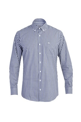 Erkek Giyim - Lacivert S Beden Uzun Kol Ekose Gömlek