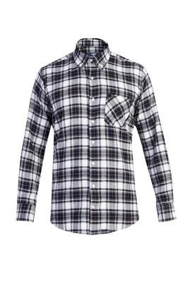Erkek Giyim - Siyah XL Beden Uzun Kol Oduncu Ekose Gömlek