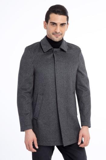 Erkek Giyim - Kaşe Yün Kaban