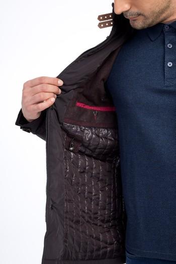 Erkek Giyim - Dik Yaka Kaban
