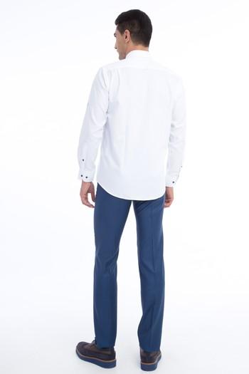 Erkek Giyim - Yünlü Kuşgözü Klasik Pantolon