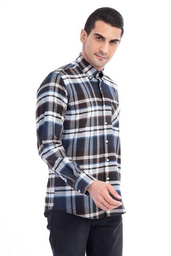 Erkek Giyim - Uzun Kol Regular Fit Oduncu Ekose Gömlek