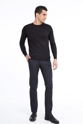 Erkek Giyim - Füme Gri 48 Beden Desenli Spor Pantolon