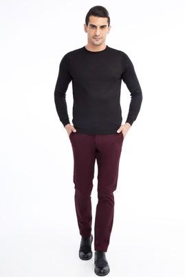 Erkek Giyim - Bordo 48 Beden Desenli Spor Pantolon