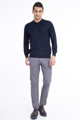 Erkek Giyim - Füme Gri 48 Beden Saten Spor Pantolon