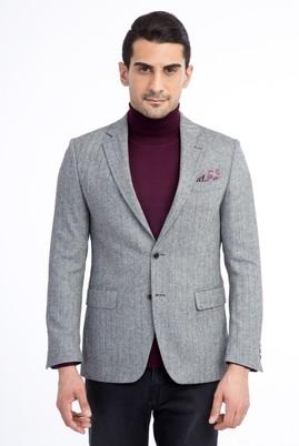 Erkek Giyim - Siyah 46 Beden Balıksırtı Ceket