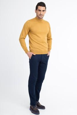 Erkek Giyim - Lacivert 50 Beden Desenli Spor Pantolon