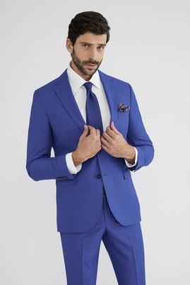 Erkek Giyim - Turkuaz 48 Beden Klasik Takım Elbise