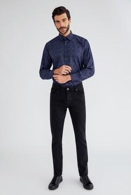 Erkek Giyim - Füme Gri 48 Beden Slim Fit Denim Pantolon