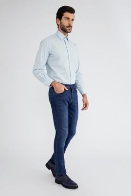 Erkek Giyim - Açık Mavi L Beden Uzun Kol Klasik Gömlek