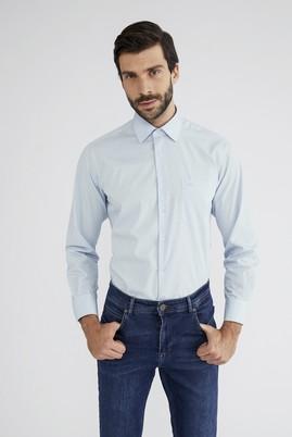Erkek Giyim - Açık Mavi M Beden Uzun Kol Klasik Gömlek