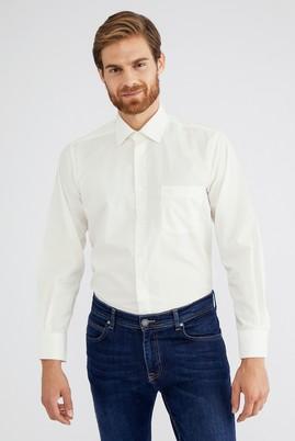 Erkek Giyim - Krem XL Beden Uzun Kol Klasik Gömlek