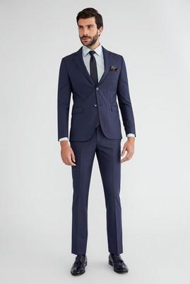 Erkek Giyim - Mavi 46 Beden Klasik Takım Elbise