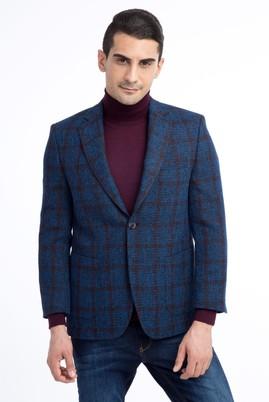 Erkek Giyim - Mavi 50 Beden Spor Desenli Ceket