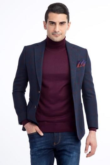 Erkek Giyim - Spor Desenli Ceket