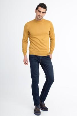 Erkek Giyim - Lacivert 46 Beden Slim Fit Denim Pantolon