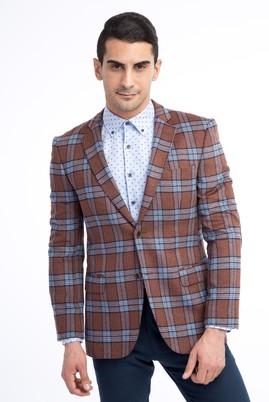 Erkek Giyim - TABA 46 Beden Slim Fit Ekose Ceket
