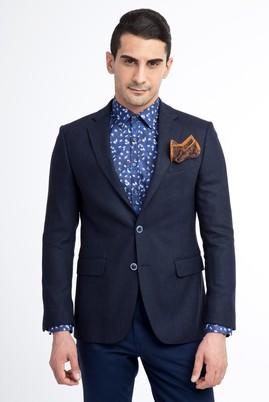 Erkek Giyim - Lacivert 48 Beden Balıksırtı Ceket