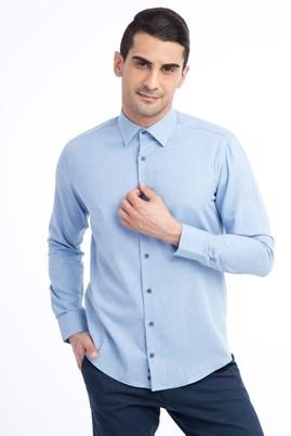 Erkek Giyim - Açık Mavi M Beden Uzun Kol Oduncu Gömlek