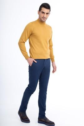 Erkek Giyim - Lacivert 50 Beden Slim Fit Spor Pantolon