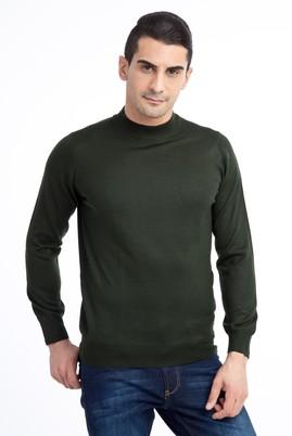 Erkek Giyim - HAKİ XXL Beden Bato Yaka Triko Kazak