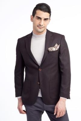Erkek Giyim - Bordo 48 Beden Kuşgözü Ceket