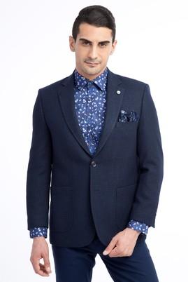 Erkek Giyim - Lacivert 52 Beden Spor Desenli Ceket