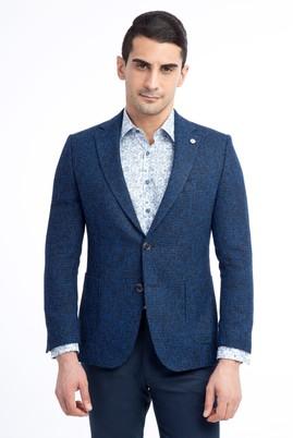Erkek Giyim - Mavi 48 Beden Spor Desenli Ceket