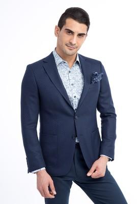 Erkek Giyim - Mavi 54 Beden Kuşgözü Ceket