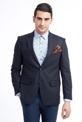 Erkek Giyim - Lacivert 50 Beden Kuşgözü Ceket