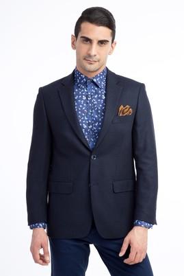 Erkek Giyim - Mavi 48 Beden Kuşgözü Ceket