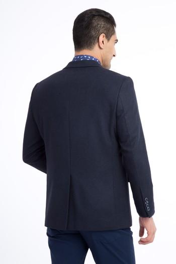 Erkek Giyim - Yünlü Kuşgözü Ceket