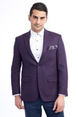 Erkek Giyim - Bordo 54 Beden Desenli Ceket